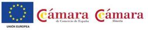 Logos de la Unión Europea, la Cámara de comercio de España y Cámara de comercio de Almería
